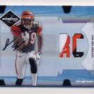 2008 Leaf Limited #320 Jerome Simpson RC - Bengals AUTO 3 Color Game-Used /99