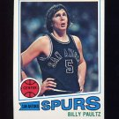 1977-78 Topps Basketball #103 Billy Paultz - San Antonio Spurs