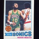 1977-78 Topps Basketball #071 Marvin Webster RC - Seattle Sonics