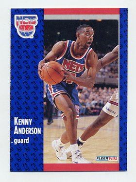 1991-92 Fleer Basketball #322 Kenny Anderson RC - New Jersey Nets