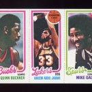 1980-81 Topps Basketball #050 Quinn Buckner / Kareem Abdul-Jabbar / Mike Gale
