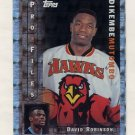 1996-97 Topps Basketball Pro Files #PF-13 Dikembe Mutombo - Atlanta Hawks