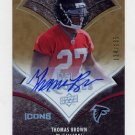 2008 Upper Deck Icons Rookie Autographs Rainbow #193 Thomas Brown RC - Falcons AUTO 134/135