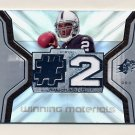 2007 SPx Football Winning Materials Jersey Number #WMJR JaMarcus Russell RC - Raiders Game-Used JSY