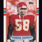 1989 Topps Traded Football #090T Derrick Thomas RC - Kansas City Chiefs
