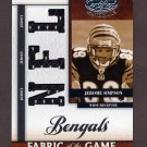 2008 Leaf Certified Materials Rookie Fabric Of The Game NFL Die Cut #28 Jerome Simpson /99