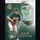 2003 Fleer Focus JE Team Colors #17 Barry Zito - Oakland Athletics