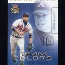 2003 Fleer Focus JE Team Colors #15 Chipper Jones - Atlanta Braves