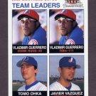 2003 Fleer Tradition Baseball #18 Vladimir Guerrero / Tomo Ohka / Javier Vazquez - Montreal Expos TL