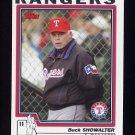2004 Topps Baseball #295 Buck Showalter MG - Texas Rangers