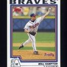 2004 Topps Baseball #104 Mike Hampton - Atlanta Braves
