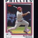 2004 Topps Baseball #069 Marlon Byrd - Philadelphia Phillies