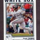 2004 Topps Baseball #049 Frank Thomas - Chicago White Sox
