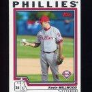 2004 Topps Baseball #011 Kevin Millwood - Philadelphia Phillies