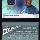 2004 Topps Chrome Fashionably Great Relics #WP Wily Mo Pena - Reds Game-Used Jersey