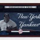 2005 Playoff Prestige Prestigious Pros Orange #37 Gary Sheffield - New York Yankees /500