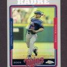 2005 Topps Chrome Refractors #165 Brad Radke - Minnesota Twins