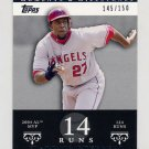 2007 Topps Moments and Milestones #042 Vladimir Guerrero - Los Angeles Angels /150