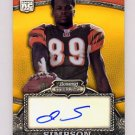 2008 Bowman Sterling Gold Rookie Autographs Card #168 Jerome Simpson RC - Bengals AUTO /250