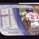 2001 Fleer Game Time New Order #NO11 Vladimir Guerrero - Montreal Expos