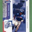 2001 Fleer Game Time Baseball #003 Alex Rodriguez - Texas Rangers