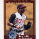 2001 SP Game Bat Milestone Baseball #087 Barry Larkin - Cincinnati Reds