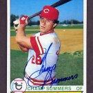 1979 Topps Baseball #516 Champ Summers - Cincinnati Reds AUTO