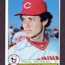 1979 Topps Baseball #377 Paul Moskau - Cincinnati Reds AUTO