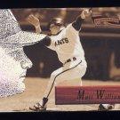 1996 Pinnacle Aficionado Baseball #066 Matt Williams - San Francisco Giants