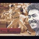 1996 Pinnacle Aficionado Baseball #039 Dennis Martinez - Cleveland Indians