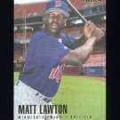 1996 Fleer Baseball #167 Matt Lawton RC - Minnesota Twins