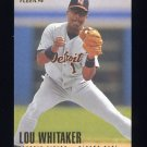1996 Fleer Baseball #122 Lou Whitaker - Detroit Tigers