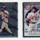 1996 Leaf Preferred Steel Baseball #61 Brian Jordan - St. Louis Cardinals