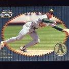 1996 Summit Foil Baseball #095 Mike Bordick - Oakland Athletics