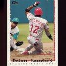 1995 National Packtime Baseball #17 Deion Sanders - Cincinnati Reds