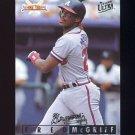 1995 National Packtime Baseball #14 Fred McGriff - Atlanta Braves