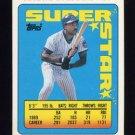 1990 Topps Sticker Backs Baseball #14 Andre Dawson - Chicago Cubs