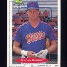 1991 Classic/Best Baseball #068 Jeromy Burnitz - Williamsport Bills
