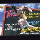 1993 Upper Deck Fun Pack Baseball #212 Rickey Henderson - Oakland Athletics