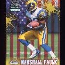 1999 Crown Royale Franchise Glory #18 Marshall Faulk - St. Louis Rams