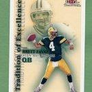2000 Fleer Tradition Football Tradition Of Excellence #1 Brett Favre - Green Bay Packers