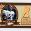 1999 Leaf Rookies And Stars Great American Heroes #23 Fred Taylor - Jaguars /2500