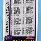 1998 Bowman Football #NNO Checklist 2 of 2