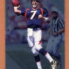 1997 SP Authentic Football #076 John Elway - Denver Broncos