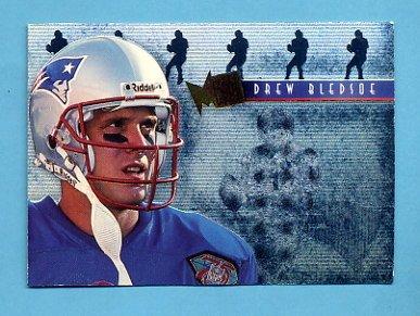 1995 Metal Platinum Portraits #01 Drew Bledsoe - New England Patriots