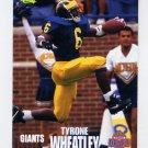 1995 Classic NFL Rookies Football #070 Tyrone Wheatley - New York Giants