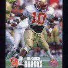 1995 Classic NFL Rookies Football #028 Derrick Brooks - Tampa Bay Buccaneers