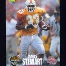 1995 Classic NFL Rookies Football #019 James O. Stewart - Jacksonville Jaguars