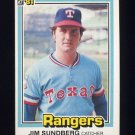 1981 Donruss Baseball #385 Jim Sundberg - Texas Rangers