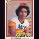 1981 Donruss Baseball #383 Jose Cruz - Houston Astros